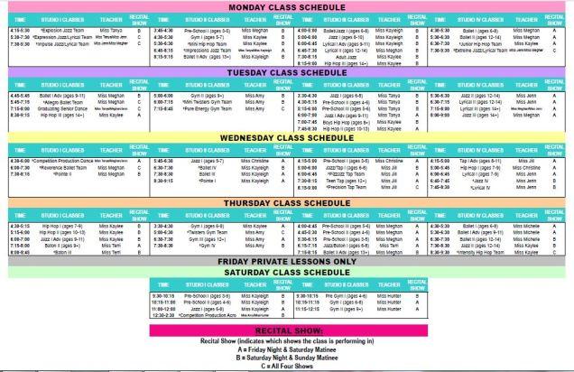 jpg schedule