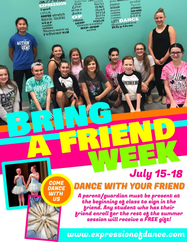 BRING A FRIEND WEEK